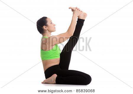 Heron Yoga Pose