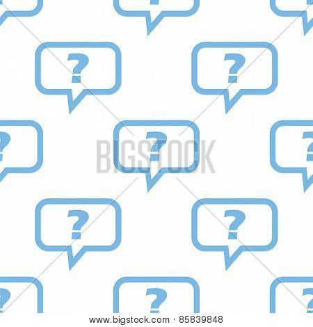Question seamless pattern