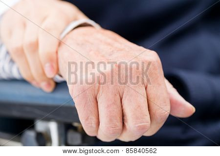 Elderly Womans Hand