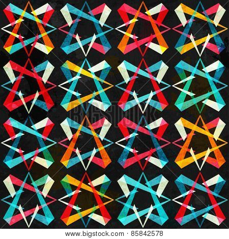 Spectrum Geometric Seamless Pattern