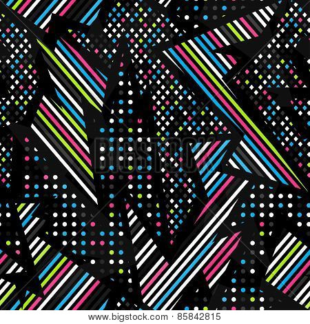 Spectrum Music Geometric Seamless Pattern