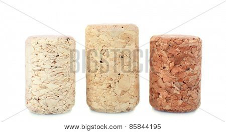 Wine corks isolated on white