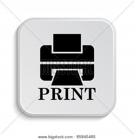 Printer With Word Print Icon