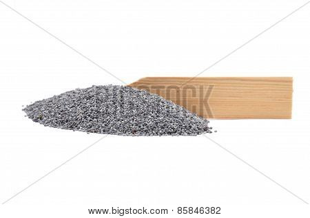 Poppy Seeds At Plate