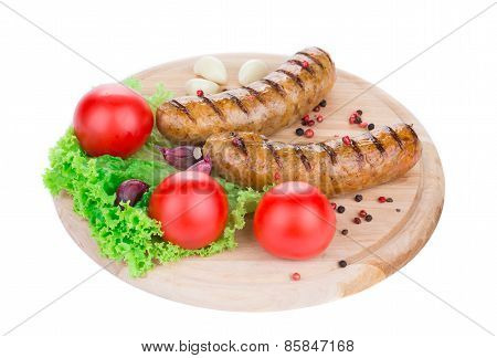 BBQ a lot of sausages