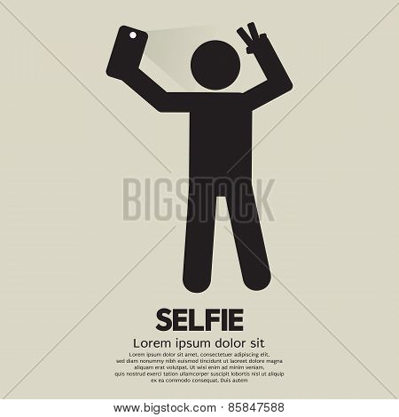 Selfie People Sign.