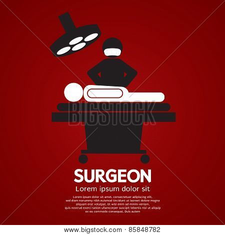 Surgeon Operate On Patient Sign.