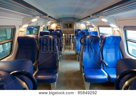 Interior Of The European Car Of The Intercity Train