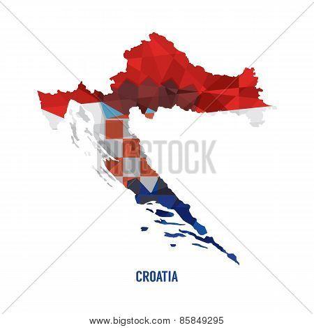 Map Of Croatia.