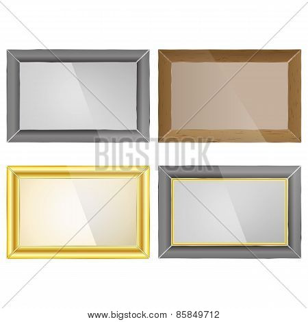 Set Photo Frame, Vector Illustration.