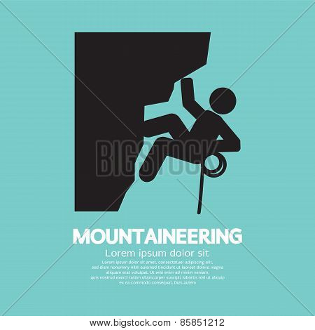 Mountaineering Graphic Symbol.