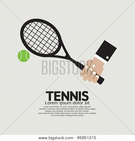 Tennis Playing Graphic.