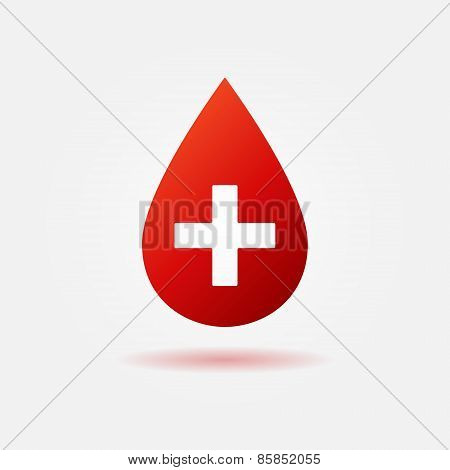 Blood red vector icon or logo