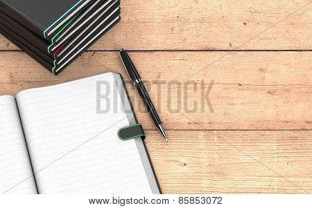 Paper Notebook And Pen