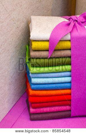 Colourful Felt Fabric