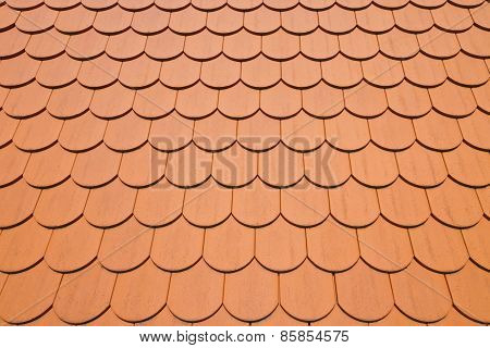 Red Roof Tiles Background