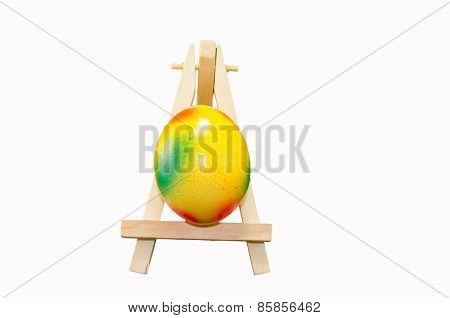 Easter Egg On Artist Easel