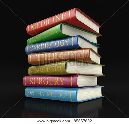 Medical textbooks (clipping path included)