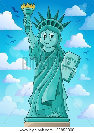 Statue of Liberty theme image 3 - eps10 vector illustration.