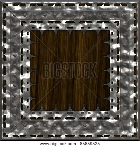 Armoured Wooden Crate Generated Texture