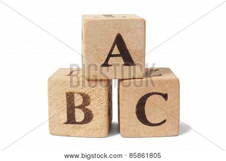 Wooden Blocks With Abc Letters