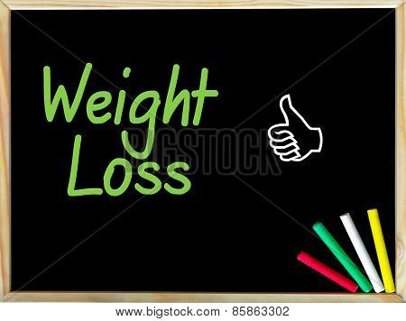 Weight Loss Message And Like Sign