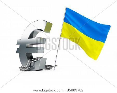 Crisis In Ukraine, Ukrainian Flag Euro Sign