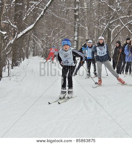 Skiers On The Ski Race