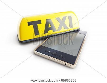 Taxi Sign Mobile Phone