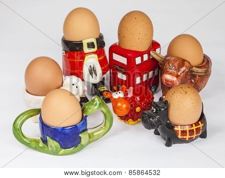 Set of scottish egg cupss