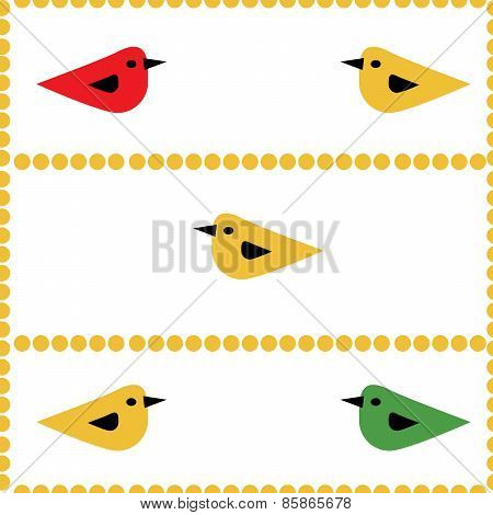 Colorful Birds Seamless Natural Background