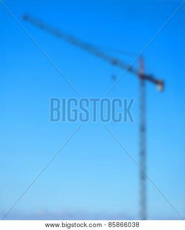 Building Crane Blurred