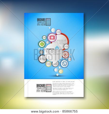 Infographic with colored circles. Brochure, flyer or report for business, template vector