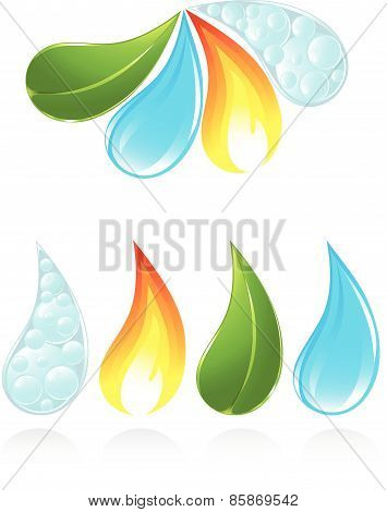 The four elements of life