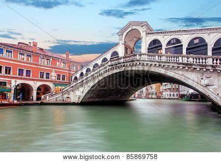 Venice - Grand Canal From Rialto Bridge