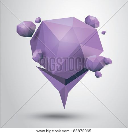 summer violet Conceptual geometric speech bubble