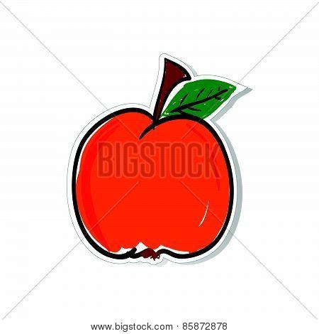 Peach Vector For Sticker Illustration