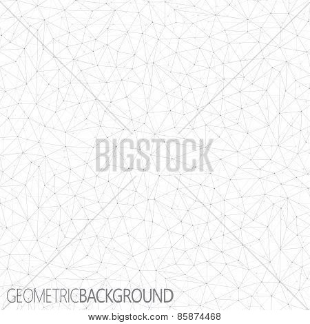Geometric gray background. Molecule and communication background