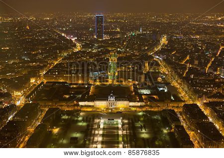 Night View Of Paris