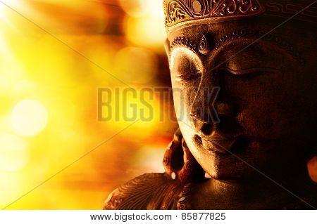 bronze buddha statue