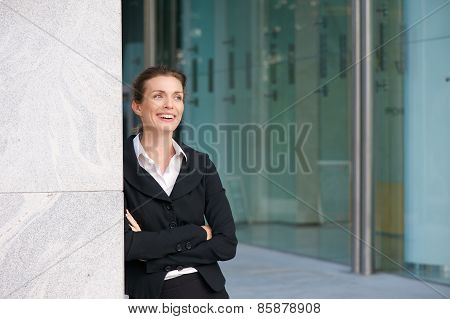 Modern Business Woman Smiling