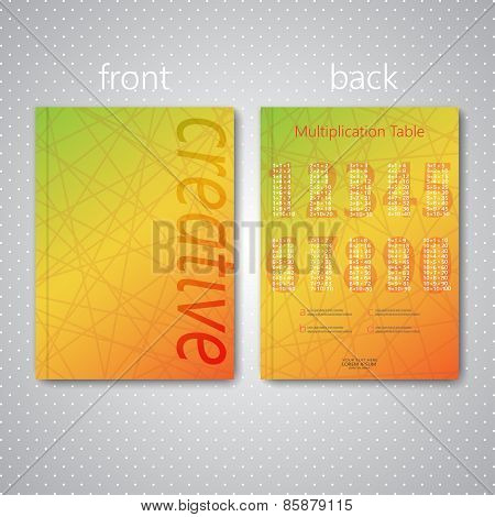 Modern abstract template layout for brochure, magazine, flyer, booklet, cover or report in A4 size f