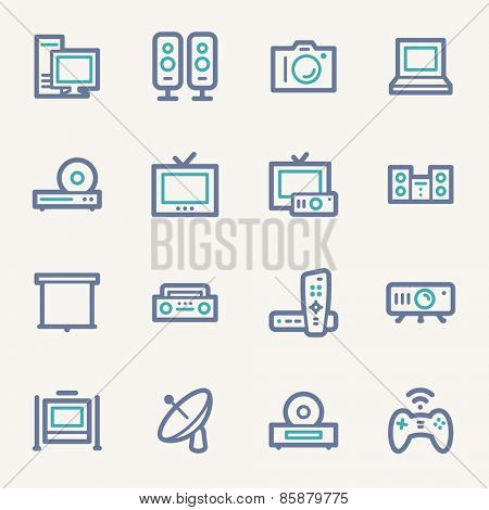 Electronic Appliances Web Icons