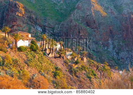 Masca Village During Sunset, Tenerife, Spain