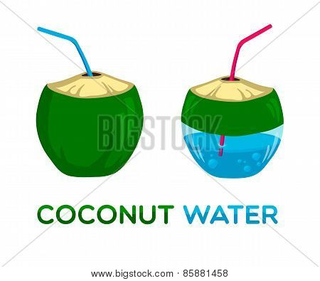 Vector logo for coconut water