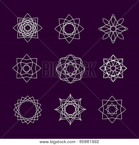 Vector collection of spirographs