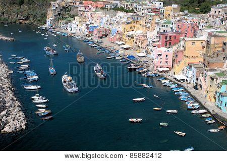 Italian island harbor