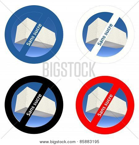 French stickers for sugar free products