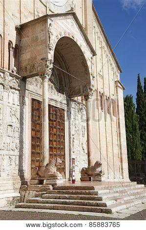 Verona, San Zeno Maggiore Basilica Front Facade
