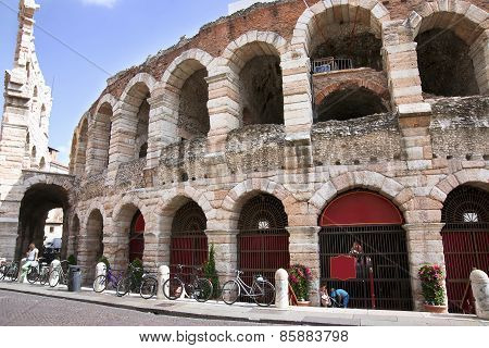 View Of Antique Amphitheater In Verona